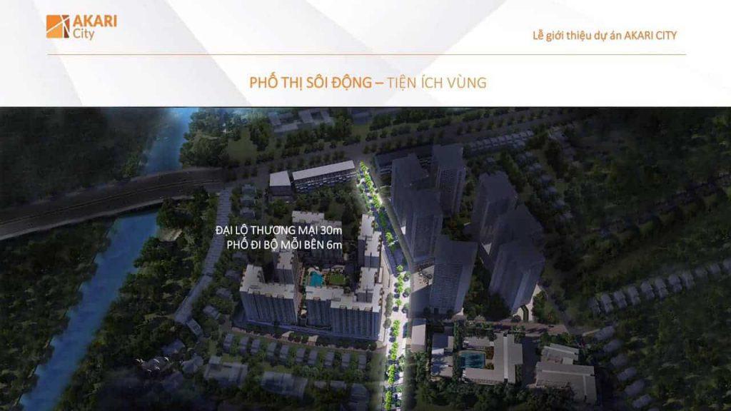 Tuyền phố đi bộ của dự án Nam Long