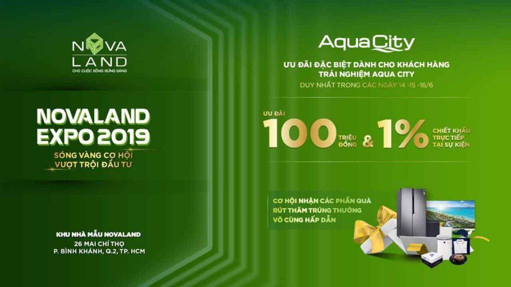 Chương trình bán hàng Aqua City tháng 6/2019